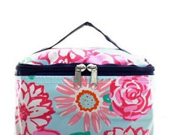 Roses Small Cosmetic Case w/ Monogram Option