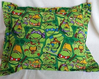 TMNT, Nap Pillow, Daycare Pillow, Ninja Turtles, Travel Pillow, Toddler Pillow, Green Pillow, Throw Pillow, Accent, Pet Pillow, Bed Pillow