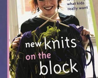 Softcover Book New Knits on the Block , 120 Pages, Knitting Instructions, Clearance Sale