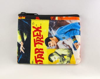 Star Trek Comics Coin Purse - Coin Bag - Pouch - Accessory - Gift Card Holder