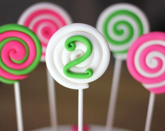 Fondant Cake Toppers - Over 30 Pieces of Lollipop Cake Kit Set - Perfect for Candy/Sweets-Themed Party