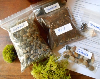 DIY Terrarium Kit (Without Container or Moss) Large, X-Large and XX-Large