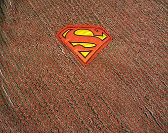 Superman Chenille Quilt/Blanket