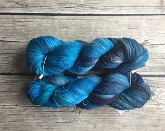 You're Gonna Need A Bigger Boat - Superwash Merino Hand Dyed Yarn - Lace Weight yarn - Hand Dyed Yarn