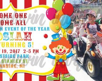 Circus invite circus ticket printable invitation