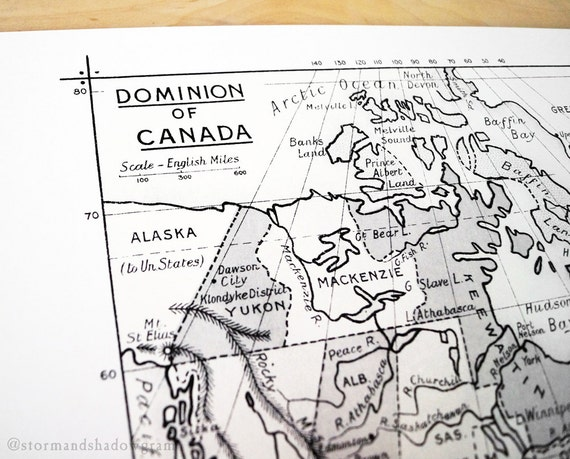 Dominion of Canada Antique Map Print on Eco Bamboo paper Canadian Made in Canada Ontario British Columbia Quebec Maritimes Keewatin Ungava