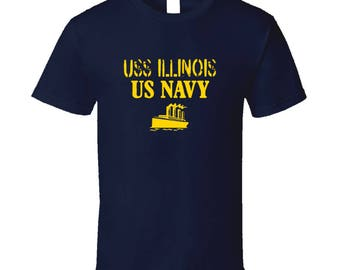 Uss Illinois Us Navy Ship Crew T Shirt