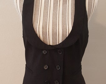 Double Breasted Pin Strip Vest