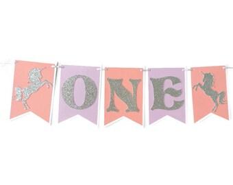 Unicorn Highchair Banner , Happy Birthday banner , Unicorn themed birthday , Unicorn themed birthday banner , Unicorn first birthday banner