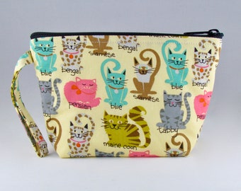 Name That Cat Makeup Bag - Accessory - Cosmetic Bag - Pouch - Toiletry Bag - Gift