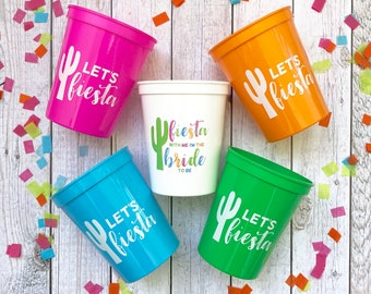 Let's Fiesta   Fiesta Bachelorette Party   Bachelorette Party Cups   Bachelorette Stadium Cups   Fiesta Cups   Cactus Cups
