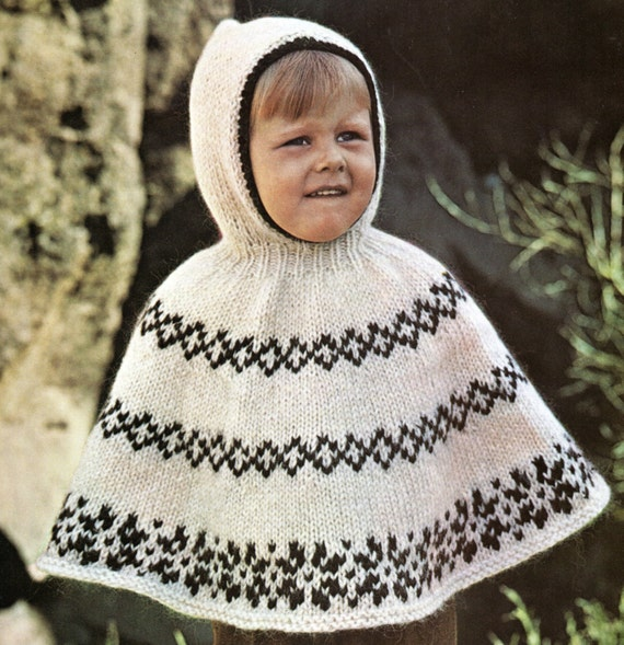 Poncho cape with hood knitting pattern child toddler hooded poncho poncho cape with hood knitting pattern child toddler hooded poncho knitting pattern pdf instant download from patternmuseum on etsy studio dt1010fo