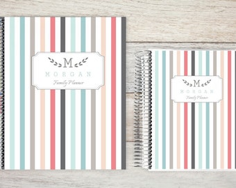 Planner | 2018 Planner | Weekly Planner | Hourly Planner | Custom Planner | Personal Planner | Life Planner | Planners | colorful pinstripes