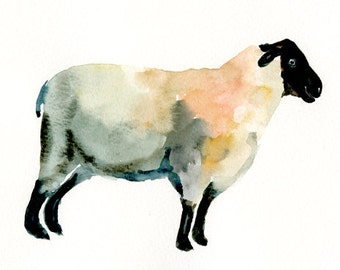 SHEEP 10x8inch print-Children's Decor-Art for Children-kids wall art-Nursery art -Animal lover