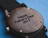 Gift For Dad, Father's Day Gift, Personalized Wood Watch, Men's Wood Watch Customized