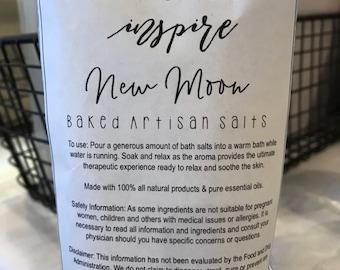 New Moon // Baked Dead Sea Salts // Bath Aromatherapy