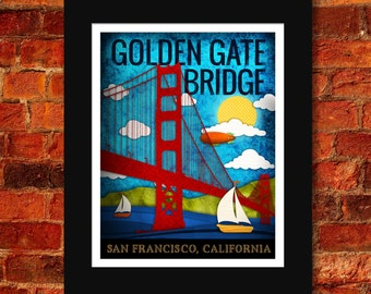 Golden Gate Bridge Art Print - 11x14