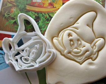Snow White Dopey Dwarf Cookie Cutter / Made From Biodegradable Material / Brand New / Party Favor / Kids Birthday / Baby Shower / Cake Top