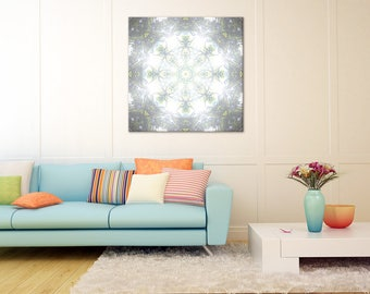 Bright Mandala Wall Art ~ Large Canvas Print ~ Inspirational Decor for Inner Peace, Happiness and Prosperity ~ Spiritual Wall Art
