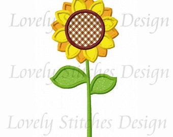 Sunflower Applique Machine Embroidery Design NO:0260