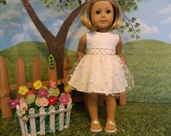 American made doll dress for American Girl doll or similar 18 inch doll