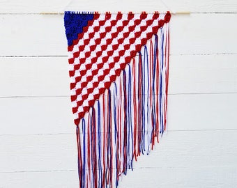 4th of July Decorations, Patriotic Decor, Wall Hanging, Red White and Blue Decor, Party Decorations, Military Baby Nursery Wall Art