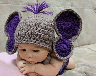Crochet Elephant Hat/Elephant Photo Props/Newborn Elephant Outfit/Newborn Elephant Costume/  sc 1 st  Etsy & Newborn halloween | Etsy
