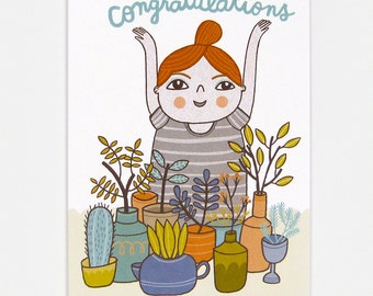 Plants (Congratulations) - Greeting Card