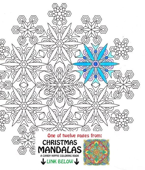 Weihnachten Mandala Malvorlagen Schneeflocken druckbare