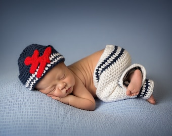 Crochet Little Sailors Photo Prop (NB only) - PATTERN ONLY