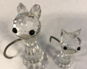 Swarovski Crystal Cats missing whiskers
