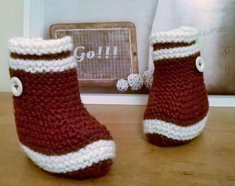 Rain boots Burgundy way CHAUSONS baby wool