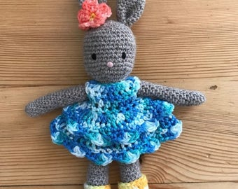 Party dress for SUSI HASI amigurumi bunny doll