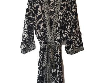 Printed Satin Kimono / Dressing Gown