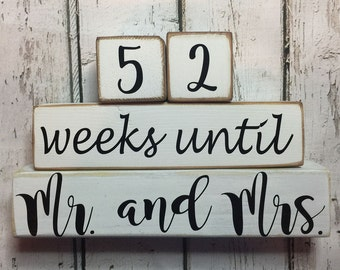 Countdown Blocks. Wedding Countdown Blocks. Mr. and Mrs. Countdown Blocks. Weeks Until Countdown Blocks. Wedding Day Countdown Blocks.