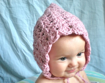 PATTERN:  Seashell Pixie Bonnet, 3 SIZES, baby gnome hat, lacy, easy crochet PDF, InStaNT DowNLoaD, Permission to Sell