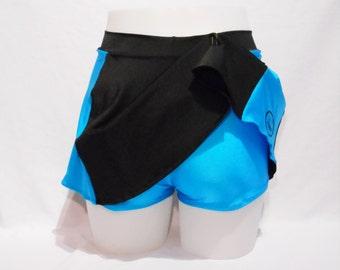 Skort - Flared Skirt with Booty Shorts or Hot Pants - side pocket - Roller Derby - Dance  - Sport