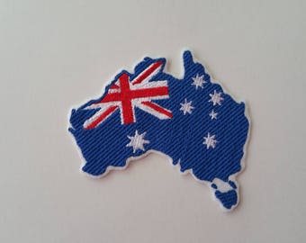 Australian flag iron on or sew on patch Australia flag patch Patriotic patch Flag patch Flag applique Australia patch Australia applique