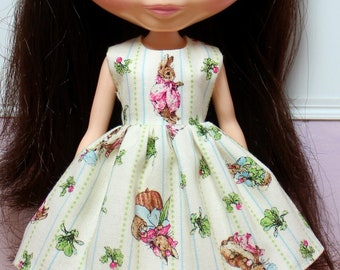 BLYTHE doll Its my party dress - Peter Rabbit