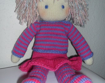 Toy Doll Knitting Pattern pdf - Instant Download