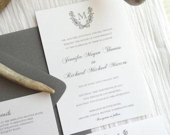 Wedding Invitation Suite - Style 100 - WEDDING BRANCHES COLLECTION Wedding Invitations     Wedding Invites    Invitation Set