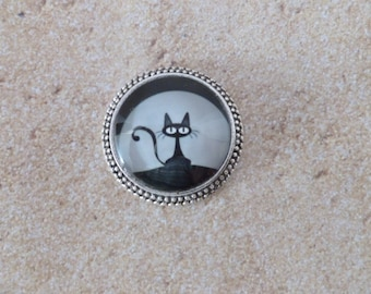 Cat and Moon Magnet