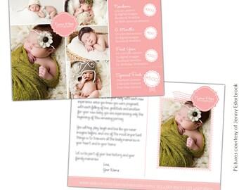 Photography Marketing Postcard - Little Ones - Photoshop  template -E675