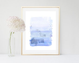 Blue Abstract, Art Print, Watercolor Print, Abstract Watercolour, Blue Wall Art, Printable Art, Home Decor, Wall Decor, Modern Art