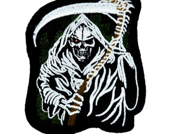 Grim Reaper w/ Scythe from Hell Death Patch Iron on Applique Clothing Sons of Anarchy  - YDS-PA-90-Patch