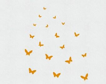 Butterfly Decals, Butterfly Wall Art, Butterfly Wall Decals, Butterfly Wall Stickers, Butterfly Nursery Decal, Vinyl Butterfly Decals Girl