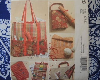 2000s sewing pattern McCalls 4728 knitting and sewing organizers  UNCUT