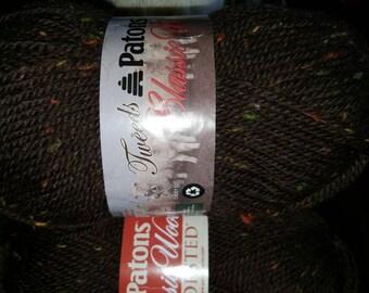 New PATONS CLASSIC Wool Yarn 1 skein 100g CHESTNUT Tweed 100% Wool