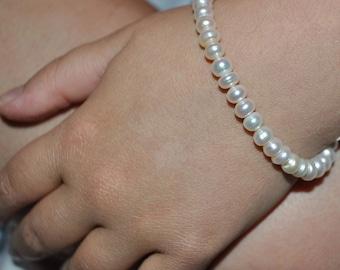 Baby or Child Freshwater Pearl  Bracelet