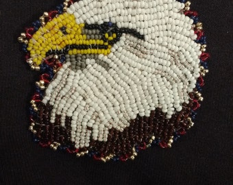 Beaded Eagle Head